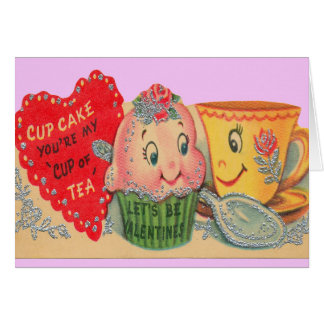 Cup of Tea Valentine Greeting Cards
