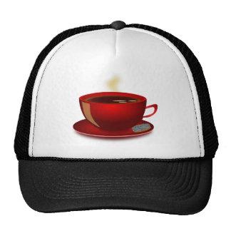 cup_of_tea_Vector_Clipart TEA COFFEE Red Mug Cap