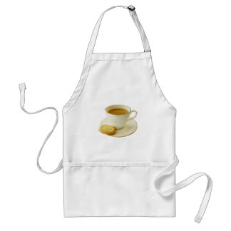 Cup of tea with cookie standard apron