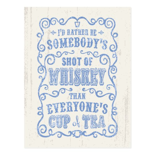 Cup of Whiskey Postcard