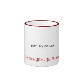Cup On Fire! Ringer Mug