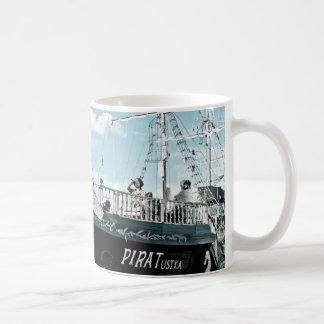 Cup - Pirate, pirate ship at the Baltic Sea Basic White Mug