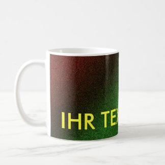 Cup rainbow multicolored basic white mug
