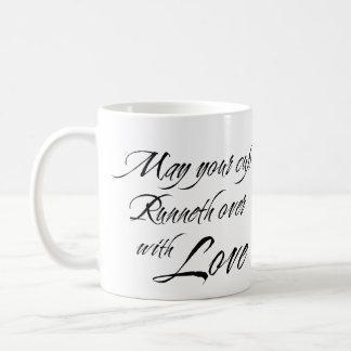 CUP RUNNETH OVER WITH LOVE custom photo bridal Basic White Mug