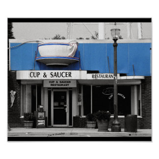 Cup & Saucer-Monterey Tennessee Print