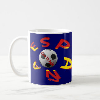 Cup Spain Soccer Basic White Mug