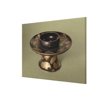 Cup stand with 'Nashiji' decoration Gallery Wrap Canvas