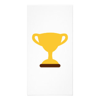 Cup trophy champion photo greeting card