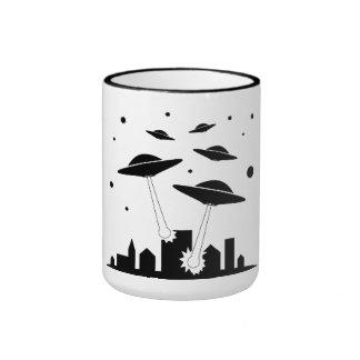 Cup Ufo Invasion Ringer Mug