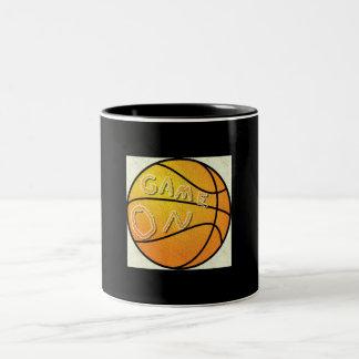 Cup with basketball print. Two-Tone mug
