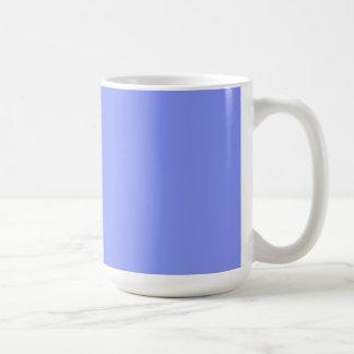 Cup with Cornflower Blue Background Basic White Mug