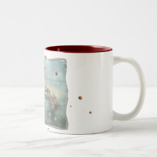 Cup with Fredchenmotiv. Two-Tone Mug