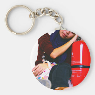 cup with own pic basic round button key ring