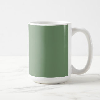 Cup with Sage Green Background Basic White Mug