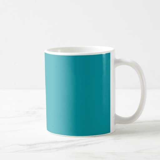 Cup with   Teal Background Mugs