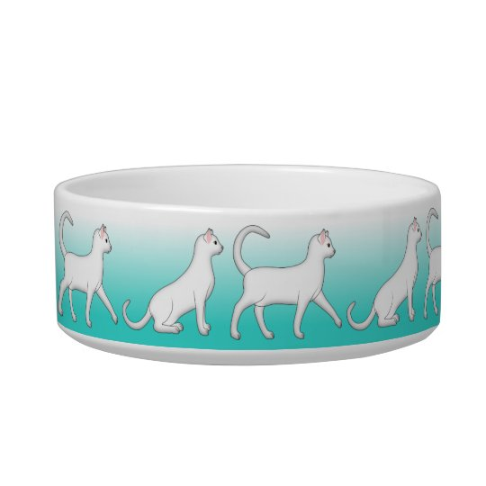 Cup with white cats bowl