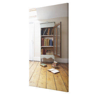 Cupboard full of books. canvas print
