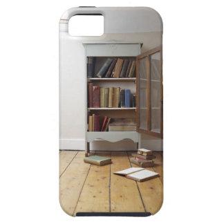 Cupboard full of books. tough iPhone 5 case