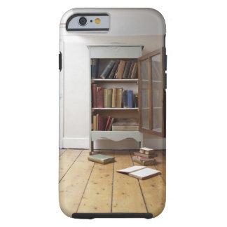 Cupboard full of books. tough iPhone 6 case