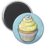 cupcake #105 6 cm round magnet