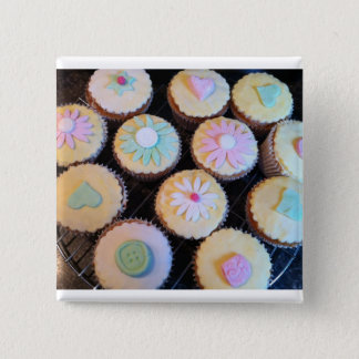 Cupcake 15 Cm Square Badge