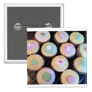 Cupcake 15 Cm Square Badge
