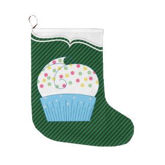 Cupcake 1 large christmas stocking