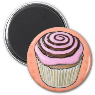 cupcake #46 6 cm round magnet