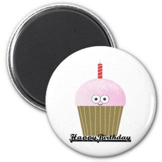 Cupcake 6 Cm Round Magnet
