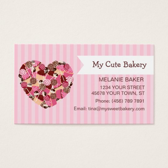 Cupcake and Cake Pops Business Card