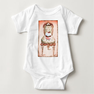 Cupcake and Chair Vintage Style Baby Bodysuit