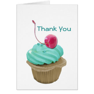 Cupcake and Cherry Greeting Card
