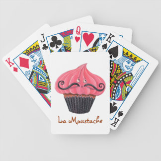 Cupcake and La Moustache Bicycle Playing Cards