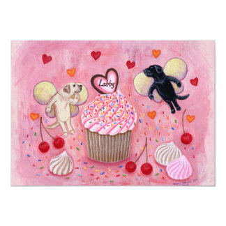 Cupcake and Lab Fairies Party Invitation