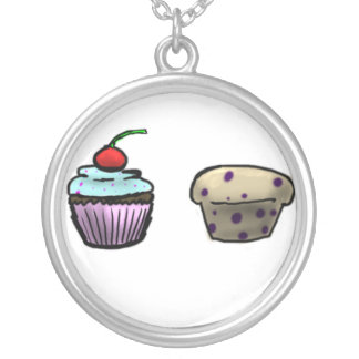 Cupcake and muffin necklace
