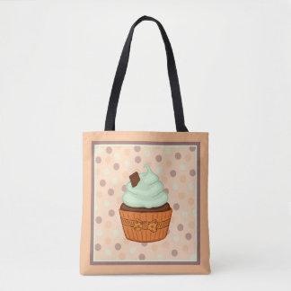 Cupcake and Polkadots Tote Bag