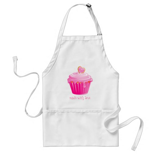 Cupcake Apron Pastry Chef Pink Icing