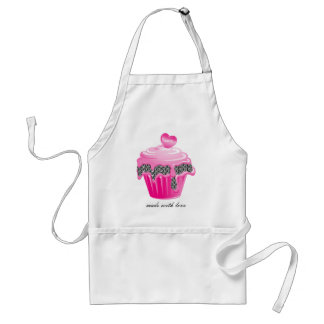 Cupcake Apron Pastry Chef Zebra Pink