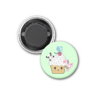 Cupcake Attack! (>_<) 3 Cm Round Magnet