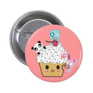 Cupcake Attack! (>_<) 6 Cm Round Badge