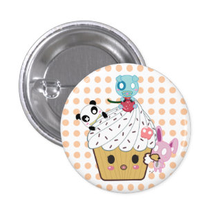 Cupcake Attack _ Pinback Buttons