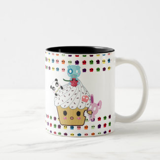 Cupcake Attack! Sugar Skulls Two-Tone Coffee Mug