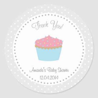 Cupcake Baby Shower Sticker