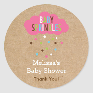 Cupcake Baby Sprinkle Baby Shower Sticker