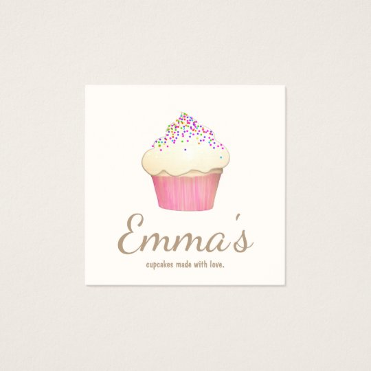 Cupcake Baker Bakery Chef Catering Square Business Card