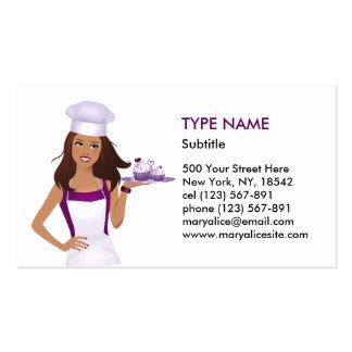 Cupcake Baker Business Card in Tan