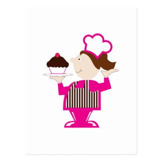 Cupcake Baker Postcard
