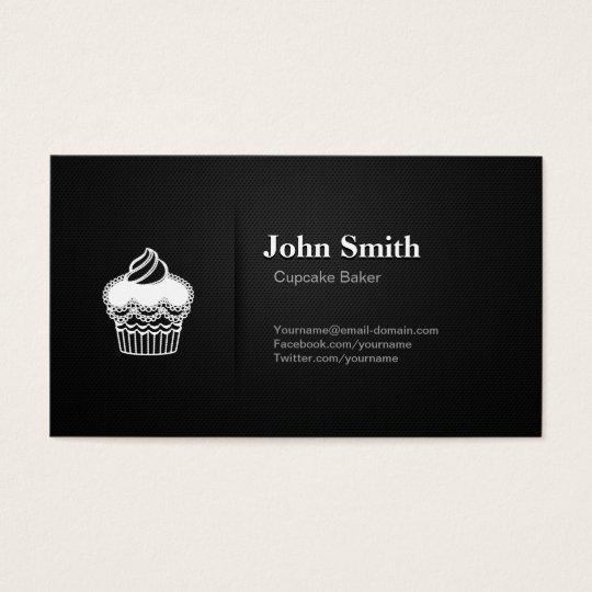 Cupcake Baker - Professional Premium Black Mesh Business