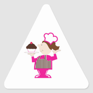 Cupcake Baker Triangle Sticker