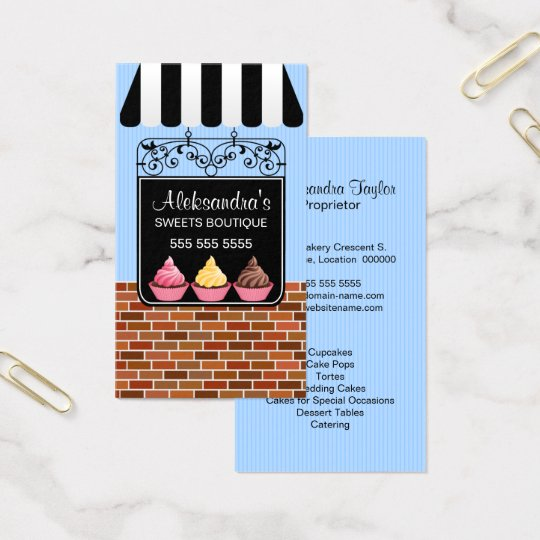Cupcake Bakery Boutique Business Card